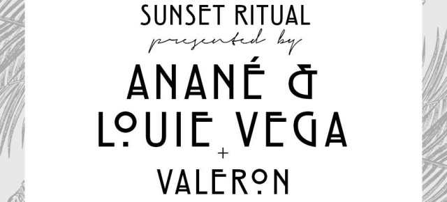 "AUGUST 11 ANANÉ & LOUIE VEGA ""SUNSET RITUAL"" at SCORPIOS MYKONOS"