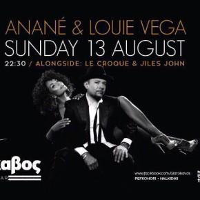 AUGUST 13 THE RITUAL WITH ANANÉ & LOUIE VEGA at GLAROKAVOS (Thessaloniki, Greece)