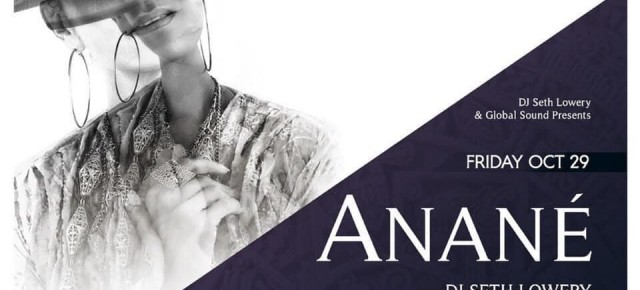 October 29TH Anané at The Underground (Ohio)