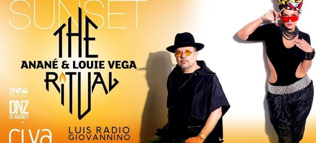 JUNE 24 THE RITUAL with ANANÉ & LOUIE VEGA AT RIVA BEACH (Fregene)