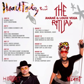 JUNE 26 AUGUST 28 THE RITUAL with ANANÉ & LOUIE VEGA AT HEART (Ibiza)