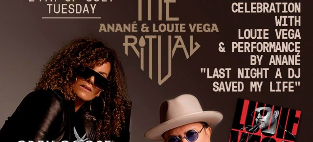 "JULY 24 THE RITUAL with ANANÉ & LOUIE VEGA celebrate ""NYC Disco"" Album AT HEART (Ibiza)"