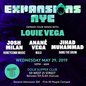 "May 29 Anané at Expansion NYC ""10 Years Of Nulu Music"""