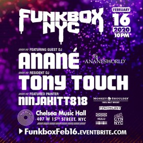 Feb 16 Anané at Funkbox (New York)