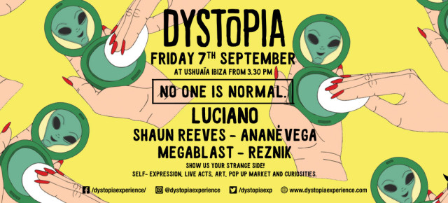 SEPTEMBER 7 ANANÉ at DYSTOPIA, Ushuaia (Ibiza)