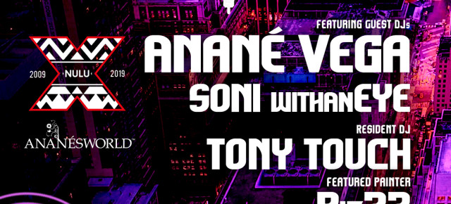 "May 26 Anané at FunkBox NYC 2019 ""10 Years Of Nulu Music"""