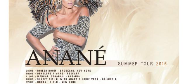 ANANÉ VEGA SUMMER TOUR 2016
