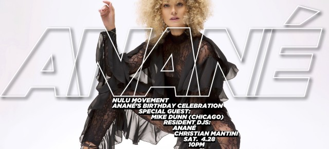 April 28 ANANÉ Presents NULU MOVEMENT at Le Bain (New York City)