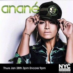 January 29 Anané Vega Live Set on NYC House Radio (3PM & 9PM)
