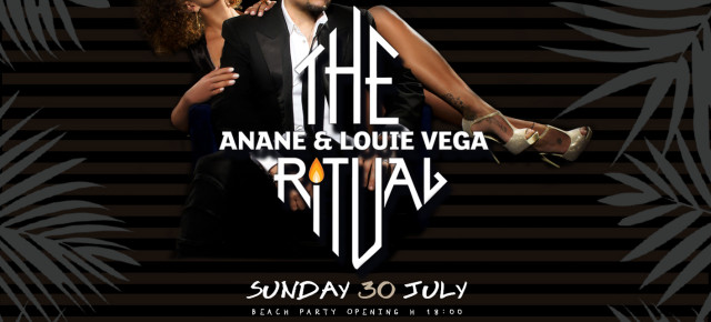 JULY 30 THE RITUAL WITH ANANÉ & LOUIE VEGA at PENELOPE A MARE (Pescara, Ita))
