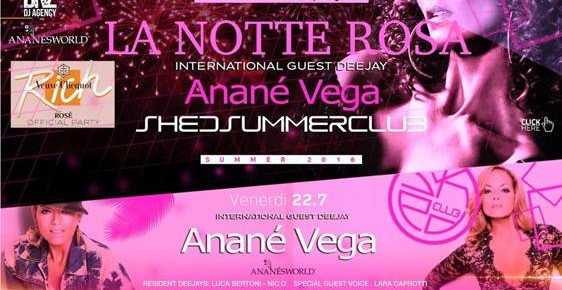 JULY 22 ANANÉ AT SHED CLUB (Busto Arstizio, VA)
