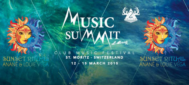 ANANE' & LOUIE VEGA - SUNSET RITUAL - Music Summit at St. Moritz on top of the wonderous Alps