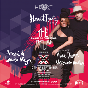 Sept 10 - 10 Years Of Nulu at Heart Ibiza hosted by The Ritual with Anané & Louie Vega