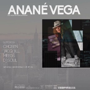 OCTOBER 22 ANANÉ VEGA at TROPICALIA (Washington DC)