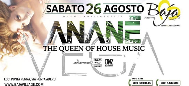 AUGUST 26 ANANÉ at BAJA VILLAGE (Vasto, Italy)