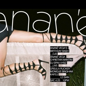 APRIL 23 ANANÉ VEGA BIRTHDAY BASH - LE BAIN AT STANDARD, HIGH LINE (New York)