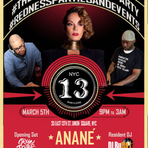 March 5 Anané at Bar13 (New York)