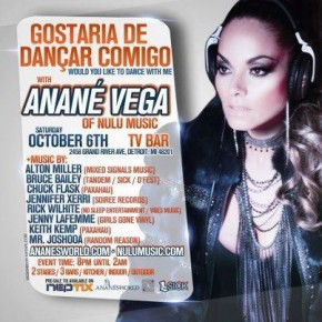 OCT 6 - Gostaria De Dancar Conmingo: Anane Vega  -  TV BAR - DETROIT