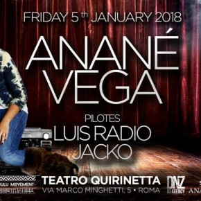JANUARY 5 ANANÉ at TEATRO QUIRINETTA (Roma, Italy)
