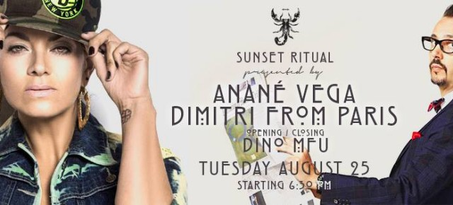 "AUGUST 25 ""SUNSET RITUAL"" WITH ANANÉ & SPECIAL GUEST DIMITRI FROM PARIS at SCORPIOS (Mykonos)"