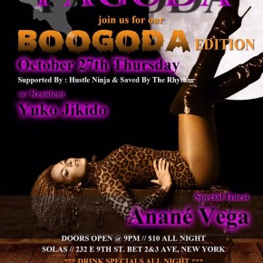 OCTOBER 26 ANANÉ VEGA at PAGODA (NYC)