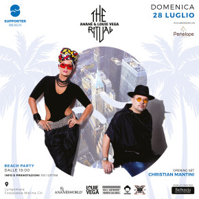 June 28 The Ritual with Anané & Louie Vega at Supporter Beach (Fossacesia, ITA)